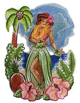 Custom and Unique Hawaii Retro Hula Girl Embroidered Iron on/Sew patch [... - $18.80