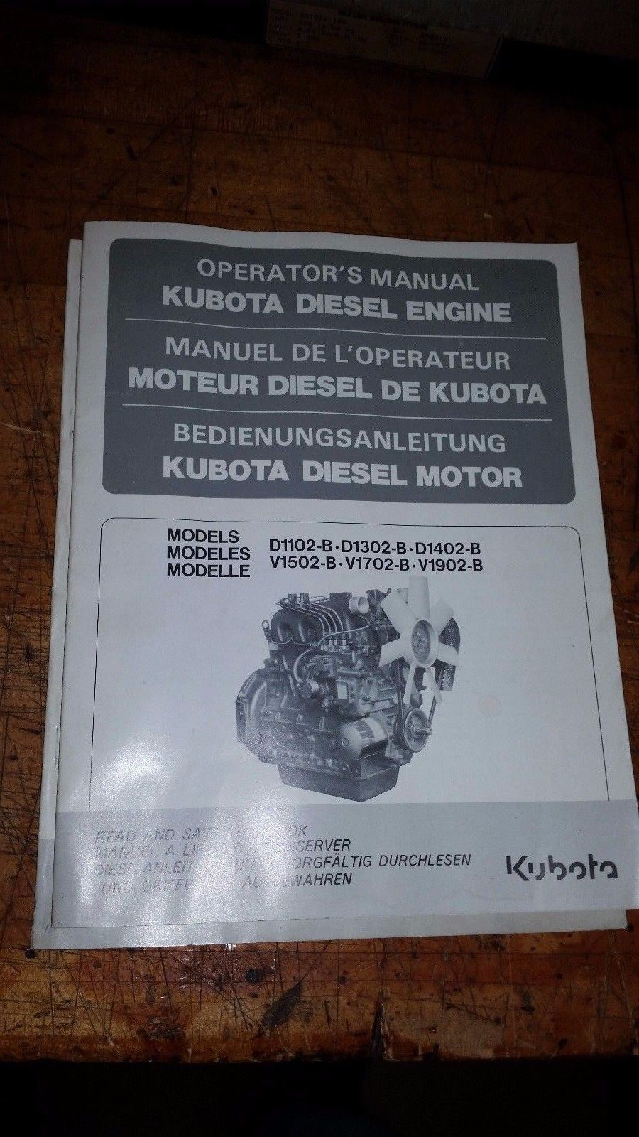 1 kubota diesel engine operators manual and 50 similar items rh bonanza com kubota v1702 engine parts manual