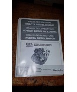 1 Kubota Diesel Engine Operators Manual D-1102-B D1302-B D1402-B V1502-B... - $9.85