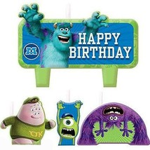 Monsters University Cake Topper Molded Set of 4 Candles Birthday Party S... - $3.91