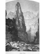 ARIZONA Rockies Kanab Canyon - 1883 German Print - $16.20