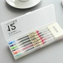 Color Ink Pen Muji Style 12 Pcs 0.5mm Gel Pen School Office Art Supply M... - $10.00+