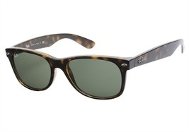 New RAY-BAN New Wayfarer RB 2132 902L Polished Tortoise  w/G-15 Green 55 mm - $107.75