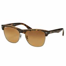 Ray Ban Clubmaster Oversized RB4175 878/M2 57MM Havana Sunglasses Grey P... - $128.67