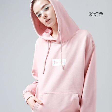 Toyouth Hooded Sweatshirt Autumn Winter Letter Printed Hoodies Women Casual Long