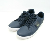 LACOSTE Europa Men's Shoes US Size 13 UK 12 Navy Blue Leather Casual Sne... - $29.65