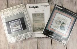 3 Cross Stitch Kits Janlynn Ten Commandments, Kitten and Yarn - Winter Church - $24.70