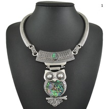 Owl jewelry necklace zinc alloy silver plated. FREE POST. - $15.00