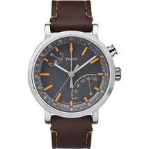 Timex Metropolitan+ Watch - Gray Dial/Dark Brown Leather - $139.82