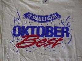 VINTAGE St. Pauli Girl Octoberfest Beer NEW 80's T shirt Men's Sz L - $19.74