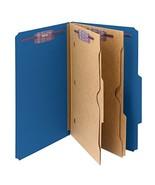 Smead Pressboard Classification File Folder with Pocket-Style (Dark Blue) - $80.18