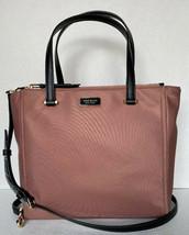 New Kate Spade New York Dawn Medium Satchel Nylon handbag Sparrow - $144.82 CAD