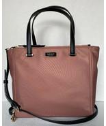 New Kate Spade New York Dawn Medium Satchel Nylon handbag Sparrow - $109.00