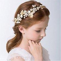 Elezay Princess Wedding Headpiece Crystal Headband Adjustable Ribbon Floral Crow image 2