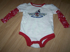 Size 6 Months Walt Disney World Parks Vintage Minnie Mouse L/S Creeper T... - $14.00