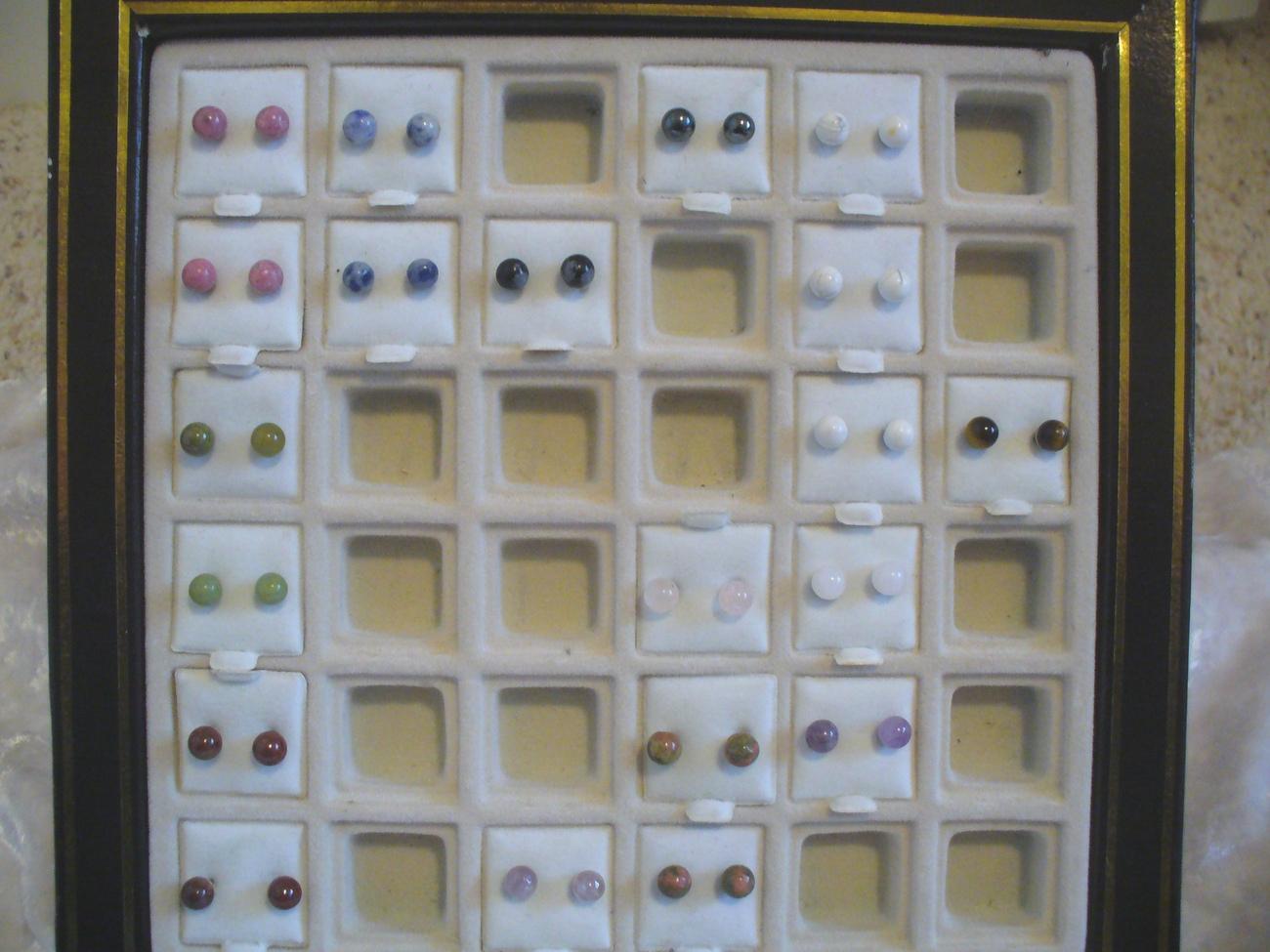 Carnelian Semi Precious Ball Post & Nut Earrings