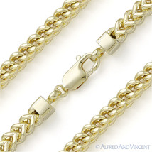 925 Sterling Silver 14k Gold-Plated 5.6mm Arrow Link Men's Franco Chain Necklace - $265.31+