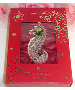 New Waterford Lead Crystal 2014 Signature Seahorse Ornament Christmas Tree - $45.99
