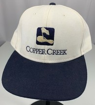 Copper Creek Golf Strapback Adjustable White Navy Blue USA Baseball Cap ... - $15.70
