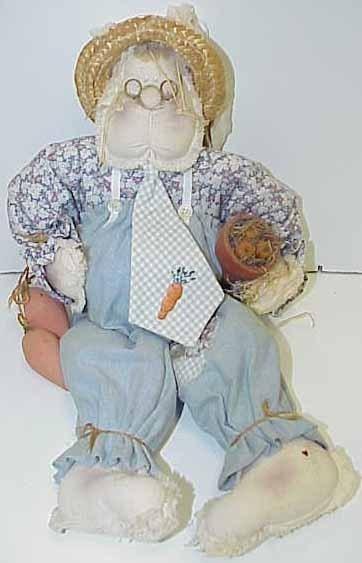 3 Old Rag Dolls, Sara, Karot Patch Pete, & Farmer Gal