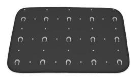 Bath Mat, Horseshoe Pattern - $29.95+