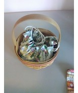 1998 Round Longaberger Mother's Day Basket with Liner - $7.35