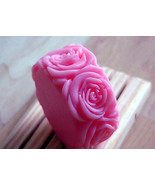 2 Pure Rose and Cherry Soap - 2 Round Rose Soaps Handmade by Berrysweets... - $6.00