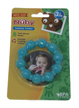 Nuby Soothing Teether Soft Silicone Beads 3M+ Light Blue - $8.31
