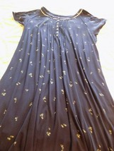 Ladies Night Gown Women's Plus Size 3XL Secret Treasure Navy Secret Trea... - $14.85