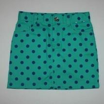 Gymboree Color Happy Green Polka Dot Twill Skort Skirt size 6 - $12.99