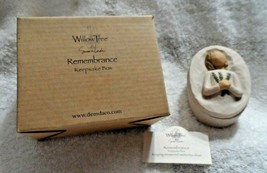Willow Tree Angel of Remembrance Keepsake Box Holding Yew Branches Sue L... - $12.00