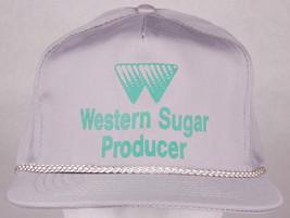 Vtg Western Sugar Producer Hat-Gray-Snapback-Rope Bill-Otto-Farm Crop-De... - $28.04