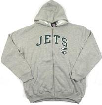 Medium New York Jets Hoodie Men's NFL Football Full Zip Sweatshirt Arch Logo