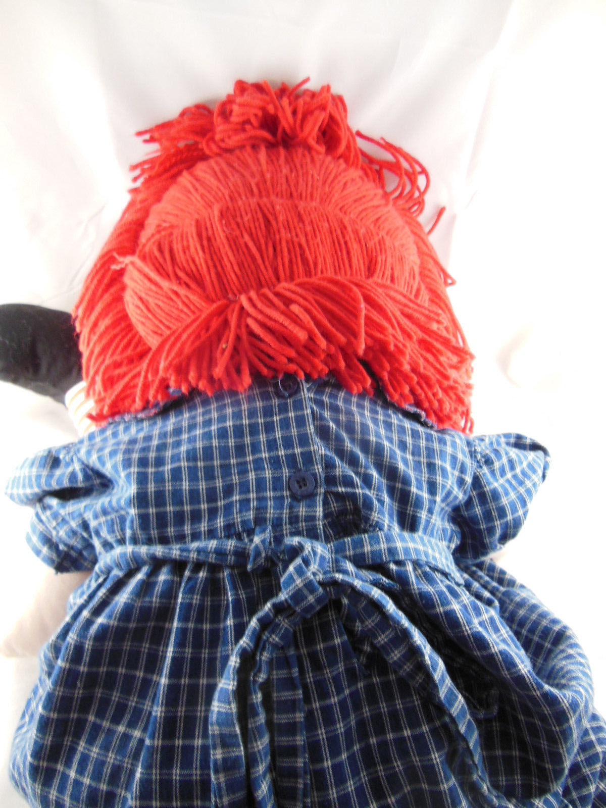 "RAGGEDY ANN RAG DOLL 35"" by Applause 2004 Hasbro Button Eyes Embroidered details"