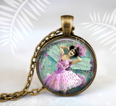 Art Jewelry, Ballerina, Dancer, tutu, vintage photo jewelry, boho jewelr... - $14.00