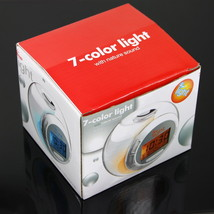 7 Color Changing Light Alarm Clock with Nature Sound - $25.00