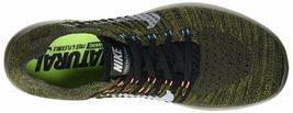 Men's Nike Free RN Flyknit Running Shoes, 831069 301 Sizes 8.5-13 Khaki/Blk/Mang image 5