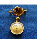 Vintage Buren Floral Pendant Watch 17 Jewel Grand Prix Yellow Gold Filled - $129.99