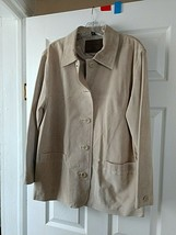 Authentic St.John's Bay Suede Leather Casual Jacket NWOT  Petite Large - €13,84 EUR