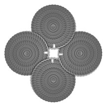4pcs Hot Pad Trivet Gray, Zanmini Pot Holders for Hot Dishes, Insulation... - $17.48