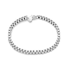 Silver Elegant Byzantine Box Link Bracelet Bangle - $9.79