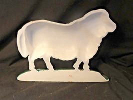 Vintage Cast Iron Sheep Doorstop Facing Left BookEnd - $39.99