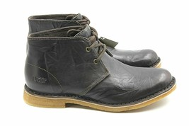 UGG Leighton Mens Leather Chocolate Desert Boot Size 7  AUTHENTIC - $66.49