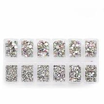 Zealer 1800pcs Crystals AB Nail Art Rhinestones Round (Mix SS3 6 10 12 1... - $12.58