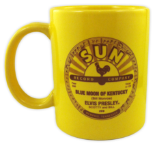 ELVIS Coffee Mug That's All Right & Blue Moon of Kentucky Label Art Sun Records image 2