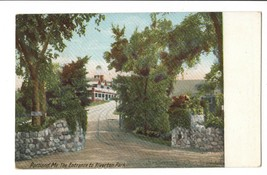 Vintage Postcard Portland Maine Riverton Park Entrance UDB Early 1900's - $4.95