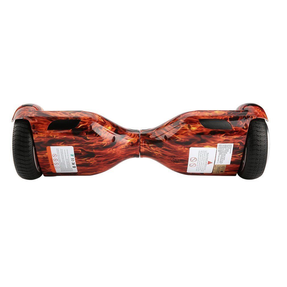 Flame Fire Red Hoverboard Bluetooth LED's Two Wheel Balance Scooter UL2272