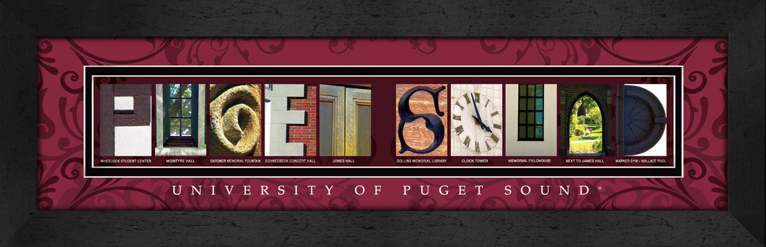 Primary image for University of Pudget Sound Officially Licensed Framed Campus Letter Art