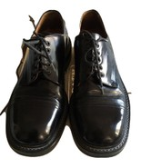 J CREW Mens Italian Black Oxfords Leather Shoes / Margom Rubber Sole Sz ... - $58.40