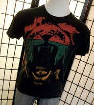Hang Ten vivid colorful lion on a black cotton tee shirt large l - $19.95